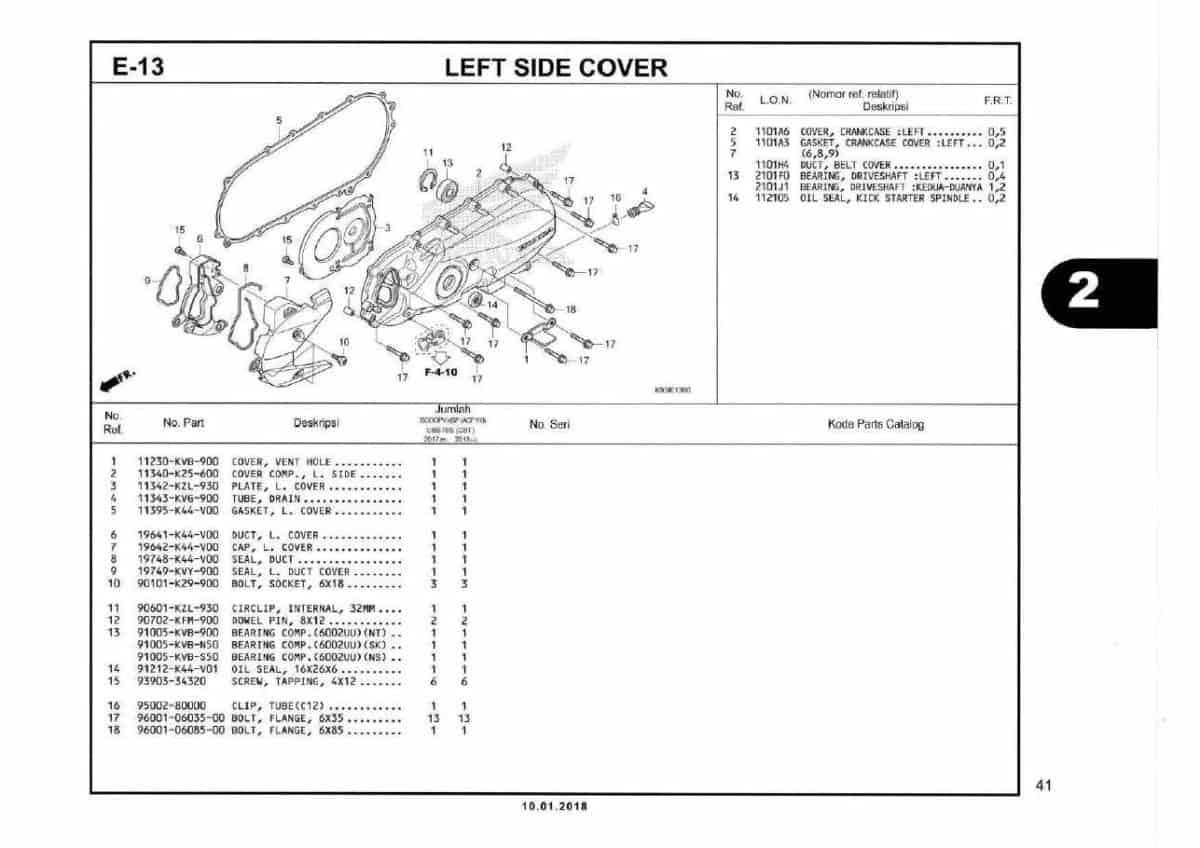 E13- Left Side Cover