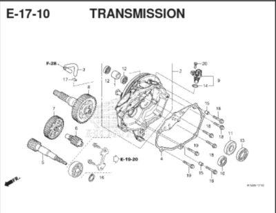 E17-10 – Transmission – Katalog Honda BeAT K1A