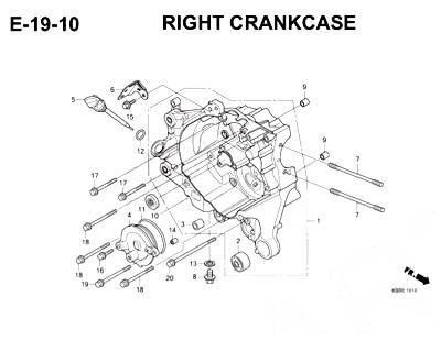 E19-10 - Right Crankcase