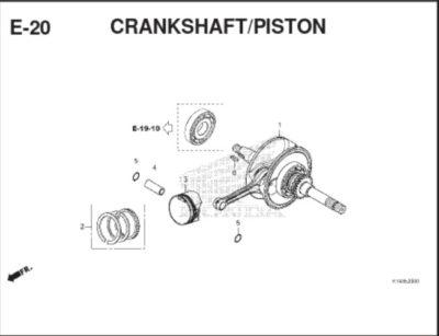 E20 Crankshaft Piston Cover