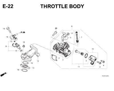 E22- Throttle Body Cover