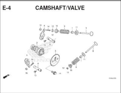E4 Camshaft Valve