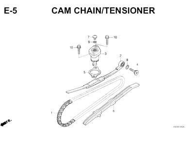 E5- Cam Chain Tensioner