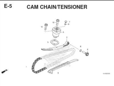 E5 – Cam Chain Tensioner – Katalog Honda BeAT K1A