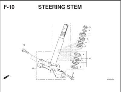 F10 – Steering Stem – Katalog Honda BeAT K1A