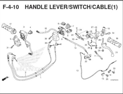 F-4-10 Handle Lever Switch Cable