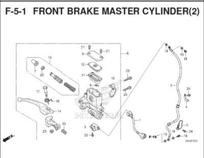 F-5-1 Front Brake Master Cylinder