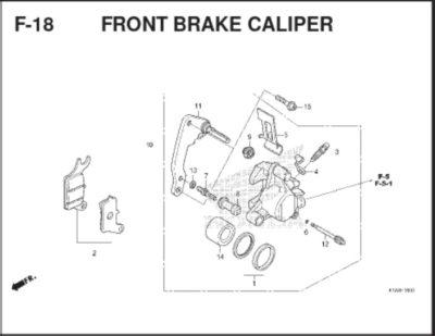 F18 - Front Brake Caliper
