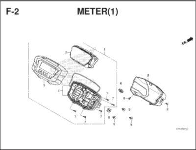 F2 – Meter (1) – Katalog Honda BeAT K1A