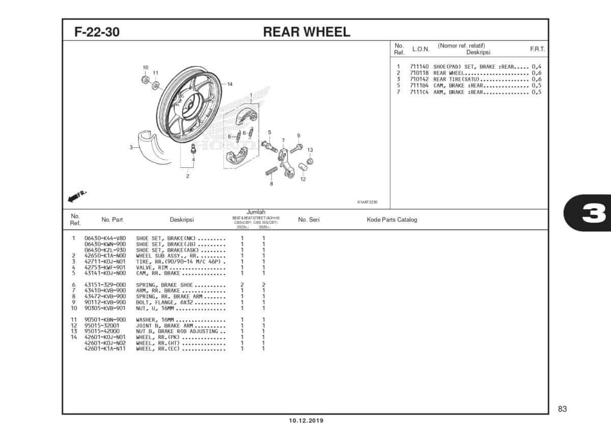 F22-30 Rear Wheel