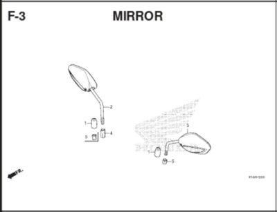 F3 Mirror Cover