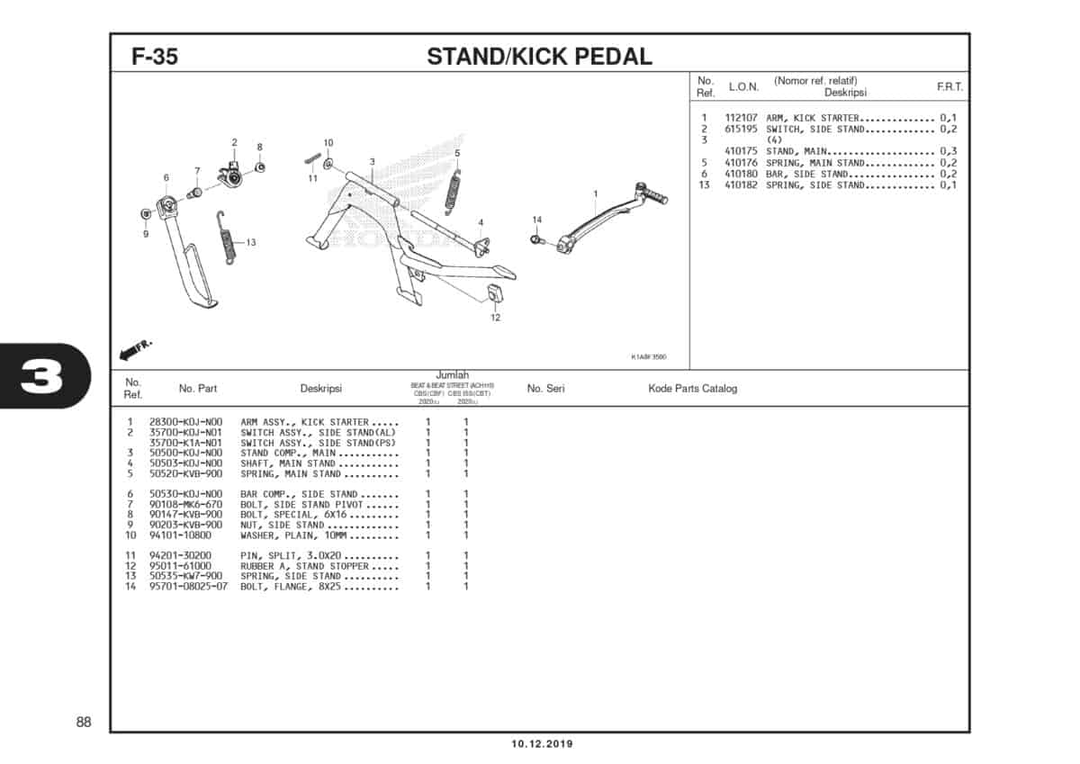 F35 STand Kick Pedal