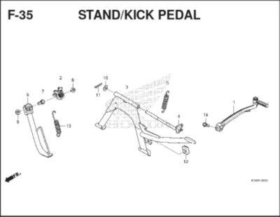 F35 – Stand / Kick Pedal – Katalog Honda BeAT K1A