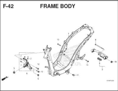 F42 – Frame Body – Katalog Honda BeAT K1A