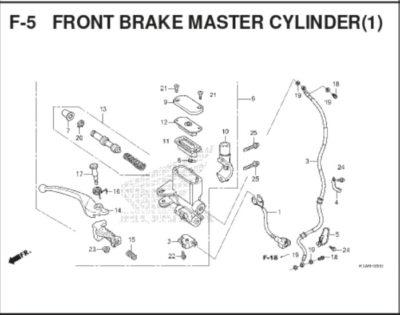 F5- Front Brake Master Cylinder
