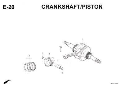 E20- Crank Shaft/ Piston