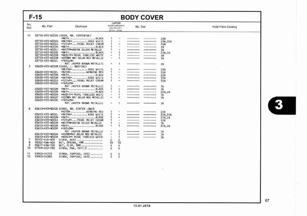 F15- Body Cover