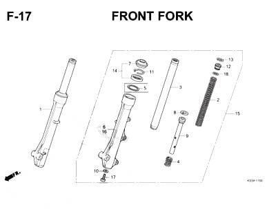 F17- Front Fork – Katalog Honda Scoopy K93H