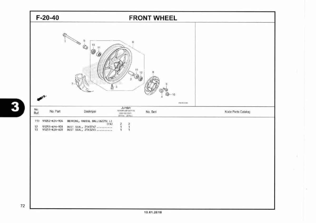 F20-40 Front Wheel