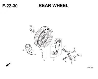 F22-30 Rear Wheel Cover