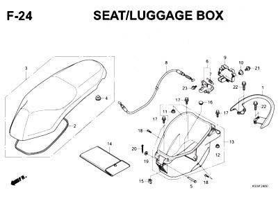 F24- Seat/ Luggage Box