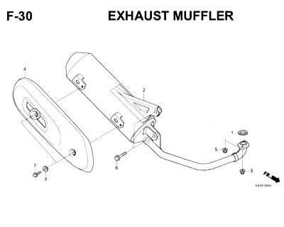 F30- Exhaust Muffler – Katalog Honda Scoopy eSP K93H