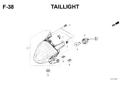 F38- Taillight – Katalog Honda Scoopy eSP K93H