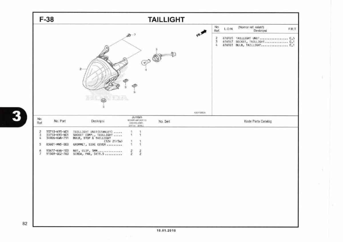 F38- Taillight