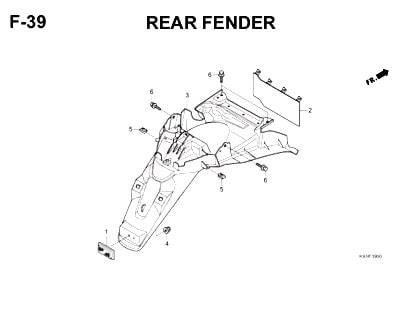 F39-Rear Fender