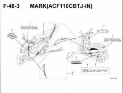 F48-3- Mark (ACF110CBTJ-IN) – Katalog Honda Scoopy eSP K93H