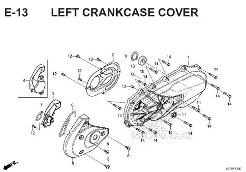 E-13-LEFT-CRANKCASE-COVER