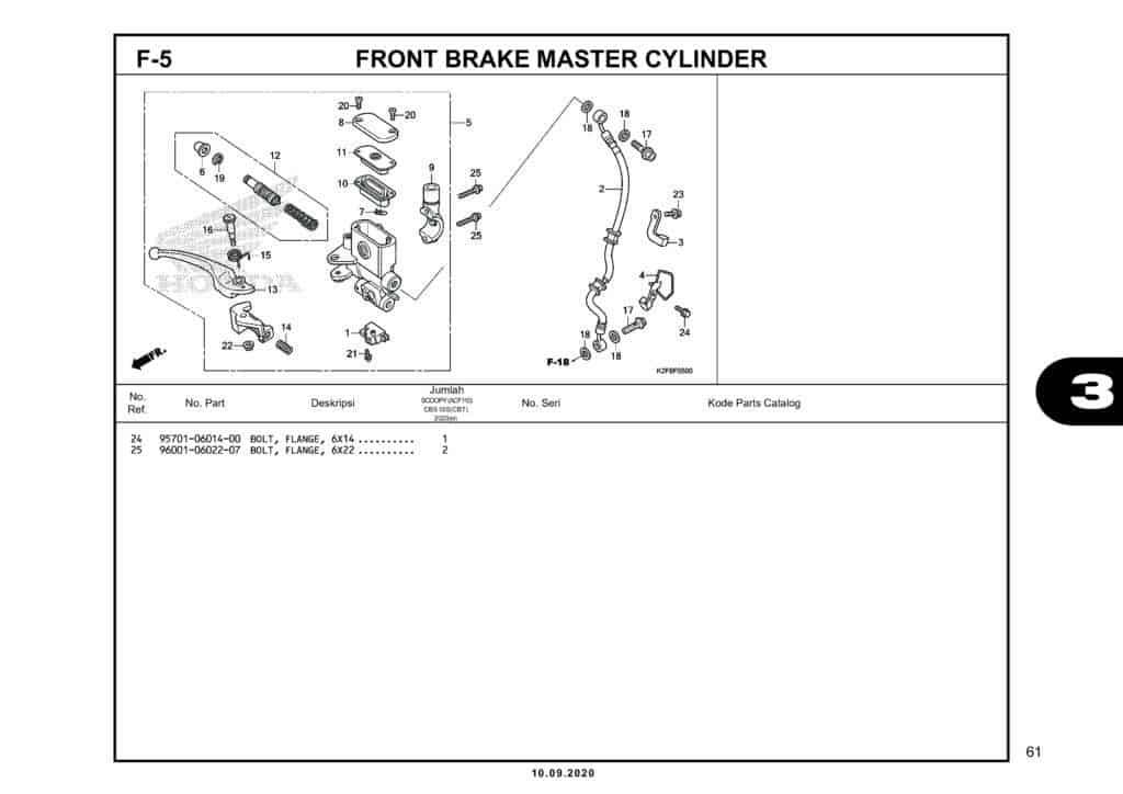 F-5 FRONT BRAKE MASTER CYLINDER (2)