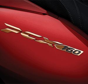 3D Emblem Honda PCX 160 Gold