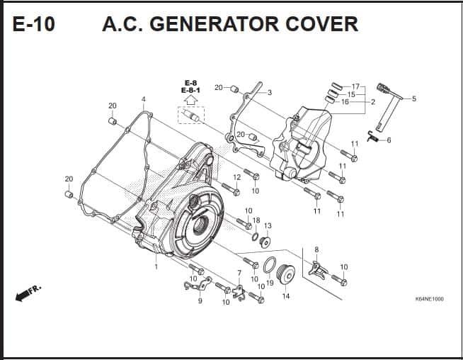 E-10 A.C Generator Cover