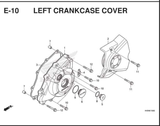 E-10 Left Crankcase Cover