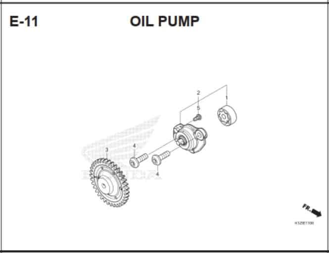 E-11 Oil Pump – Katalog Suku Cadang Honda PCX 160