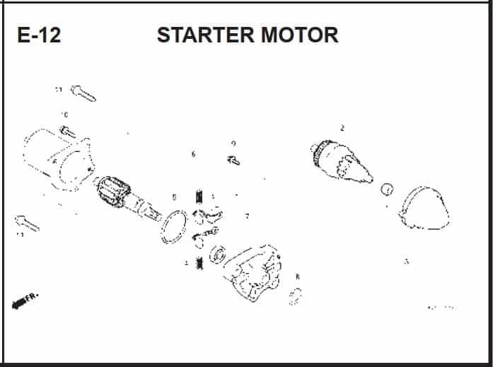E-12 Starter Motor