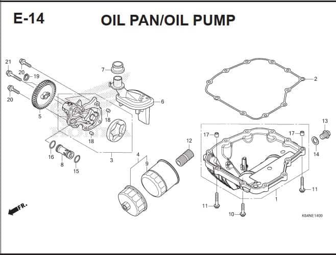 E-14 Oil Pan Oil Pump