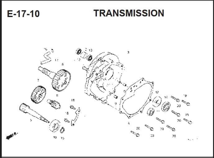 E-17-10 Transmission – Katalog Suku Cadang Honda BeAT FI K25A