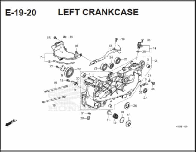 E-19-20 Left CrankCase
