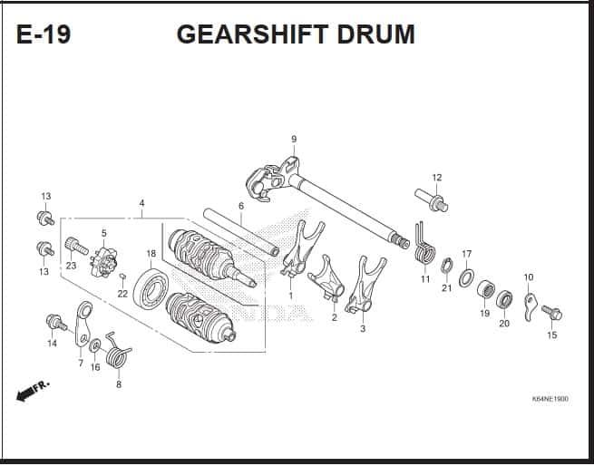 E-19 GearShift Drum