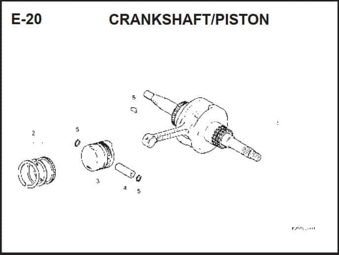 E-20 CrankShaft/ Piston – Katalog Suku Cadang Honda BeAT FI K25A