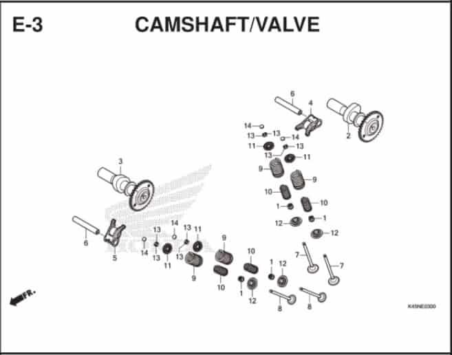 E-3 Camsahft Valve