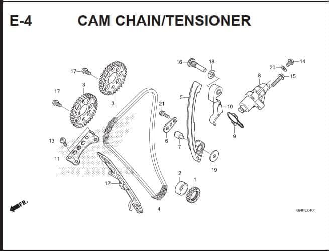 E-4 Cam chain Tensioner