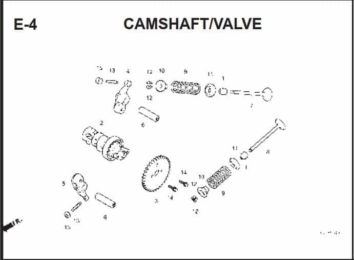 E-4 Cams haft Valve