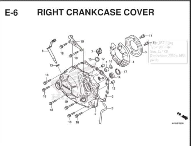 E-6 Right Crankcase Cover