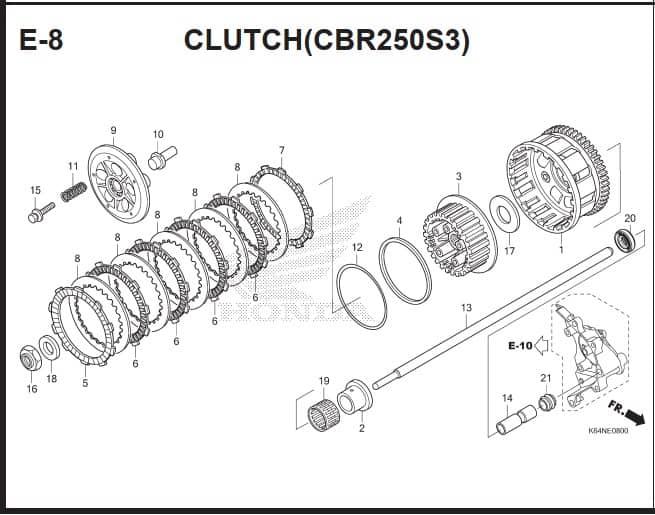 E-8 Clutch (CBR250S3)