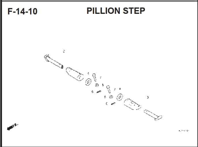 F-14-10 Pillion Step