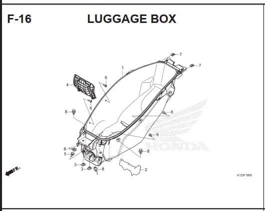 F-16 – Luggage Box – Katalog Suku Cadang Honda PCX 160