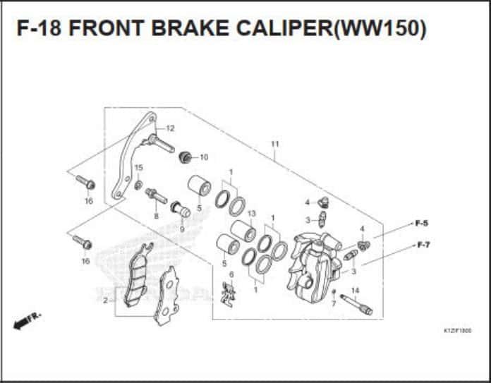 F-18 Front Brake Caliper (WW150)